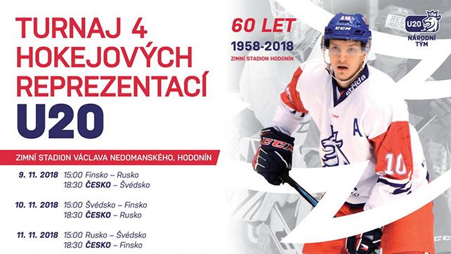Hokej: 11.11.18 Turnaj 4 zemí reprezentací U20: Rusko – Švédsko, Česko – Finsko